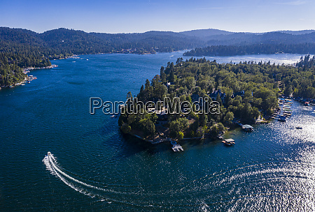 aerial of lake arrowhead california united