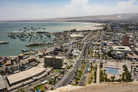 port and downtown seen from the