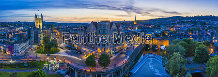 aerial view by drone over bath