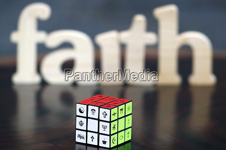 wooden letters forming the word faith