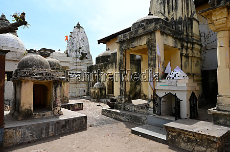 cluster of small temples in the