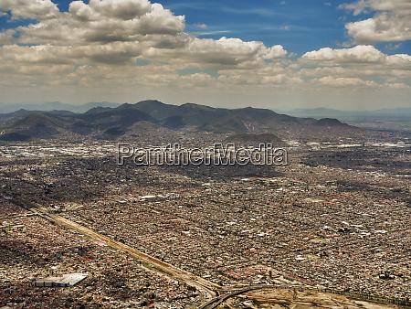 aerial view of mexico city mexico