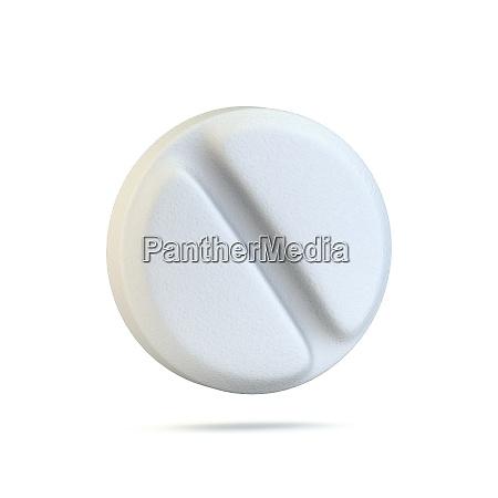 single medical pill 3d