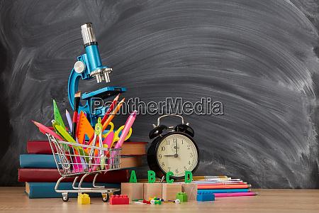 school background back to school
