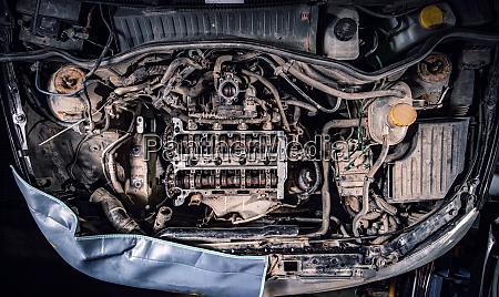 bad car maintenance concept