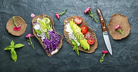 vegetarian snack of tacos