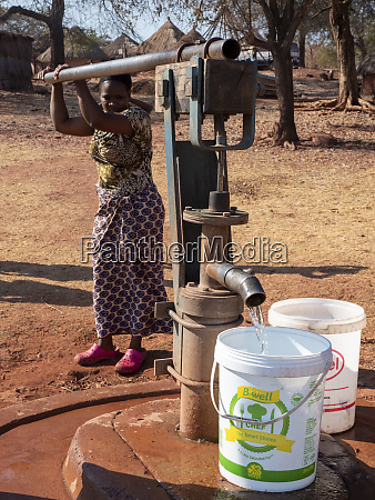 pumping fresh water from a well