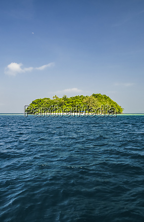 deserted tropical island off the coast