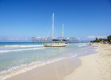 sailing ship at seven mile beach