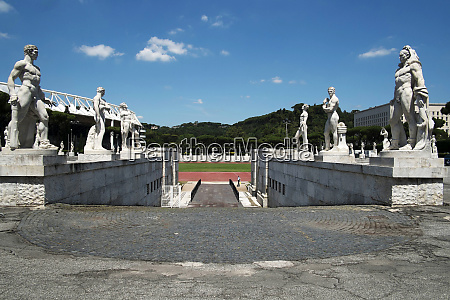 view of the marble stadium rome