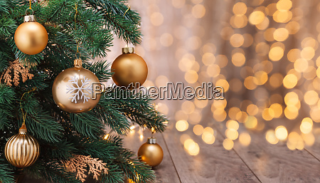 christmas decoration with balls and christmas