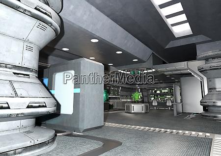 3d rendering botanical space laboratory