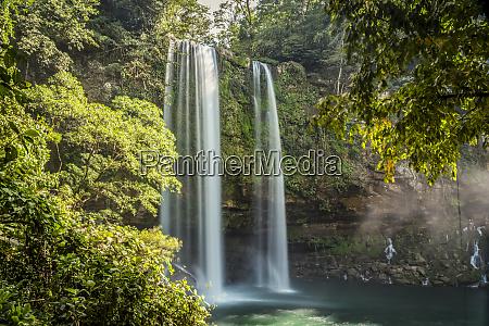 misol ha waterfall chiapas mexico