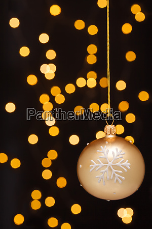 christmas decoration with balls and ribbons