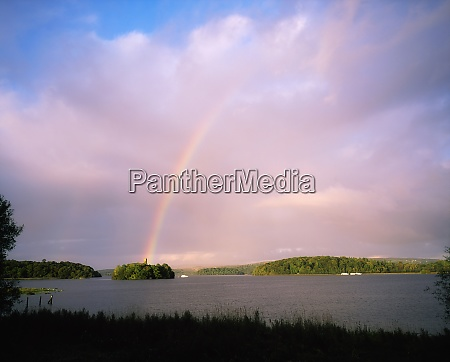 rainbow over water