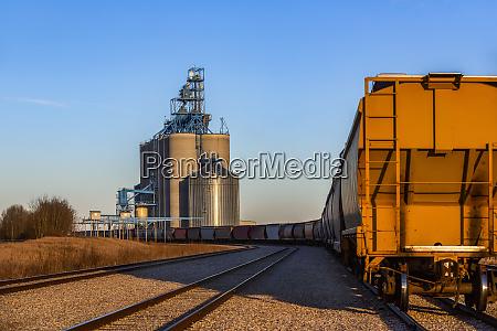 hopper wagon on a train approaching