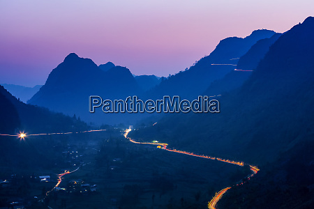 night lights in the ha giang