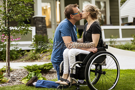 a husband and his paraplegic wife