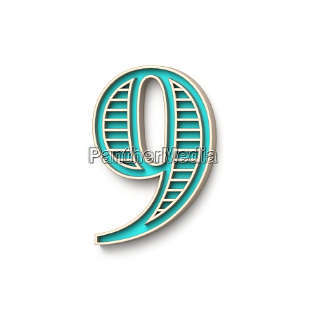 classic old fashioned font number 9