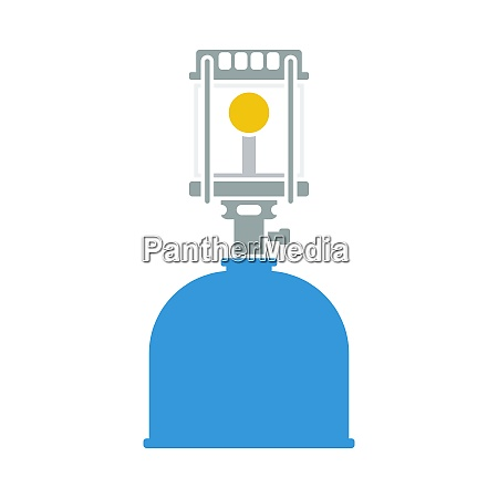 icon of camping gas burner lamp
