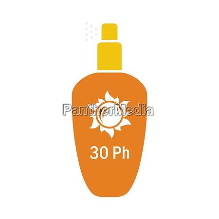 sun protection spray icon