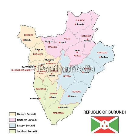 new administrative vector map of burundi