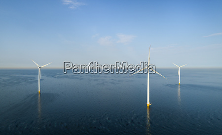 wind turbines early in the morning