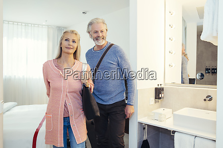 a couple standing together in a