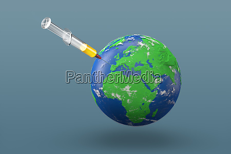 planet earth globe 3d rendering of