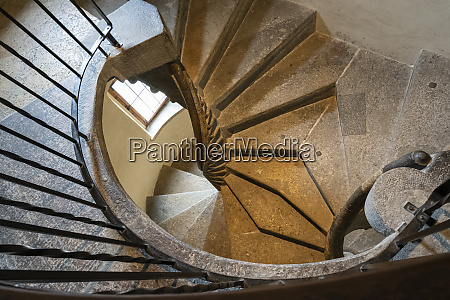 double helical spiral staircase in graz