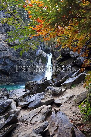 the buchenegger waterfalls in bavaria in