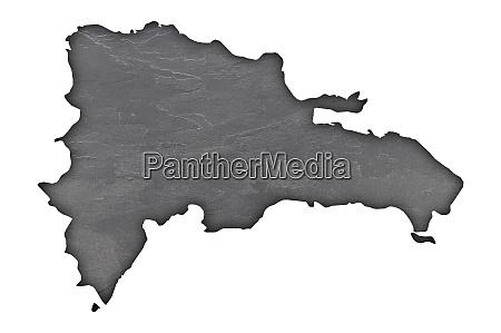 map of dominican republic on dark