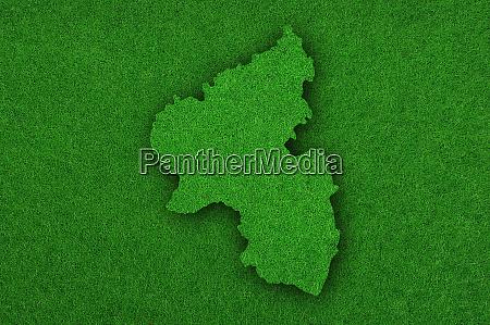 map of rhineland palatinate on green