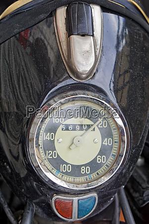 vintage motorcycle speedo