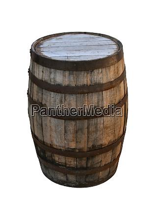 old vintage wine barrel or whiskey
