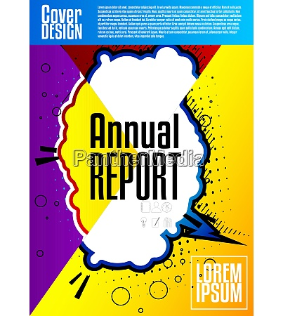 comic book style annual report abstract