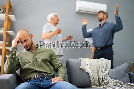 grandfather having conflict with father