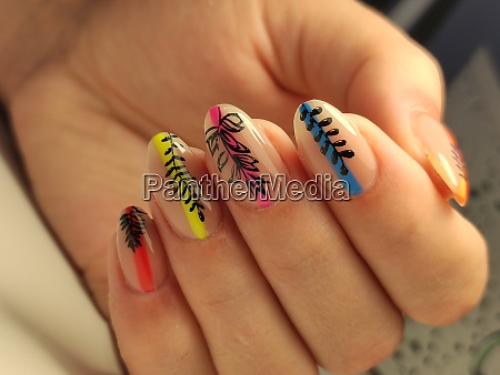 amazing natural nails womens hands with