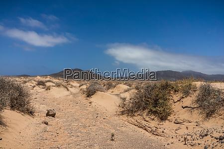 deserted sandy expanses of the jandia
