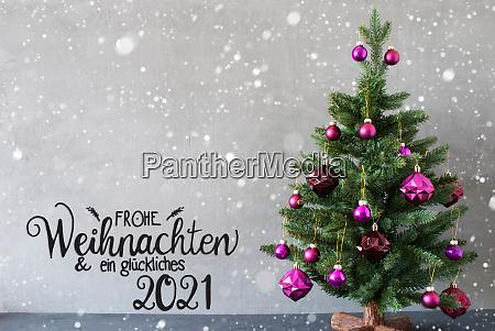 christmas tree purple ball glueckliches 2021