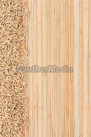 oatmeal on a bamboo mat
