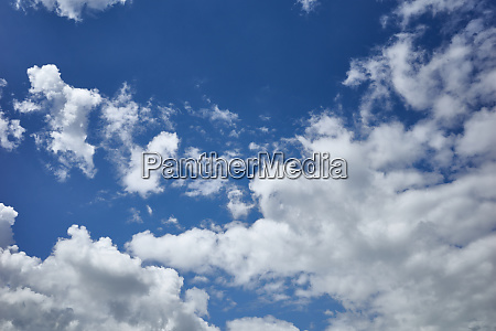 enchanting blue sky covered with clouds