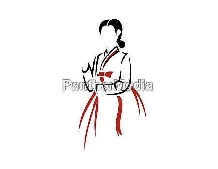 hanbok dress korean traditional costume silhouette