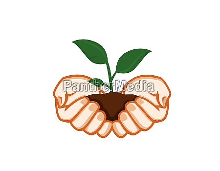green plants sustainability illustration and environmental