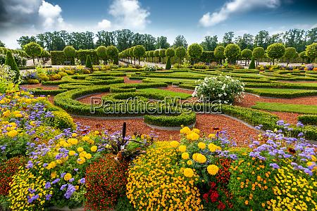beautiful landscaped palace park formal garden