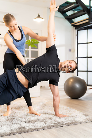 yoga training at home with personal
