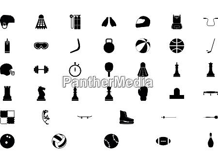 sports accessory black color set solid