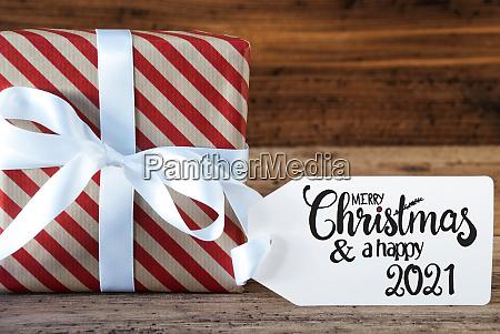 christmas present label merry christmas and