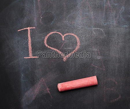 inscription in red chalk on a
