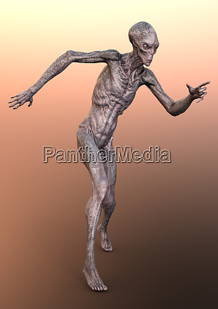 3d rendering fantasy alien